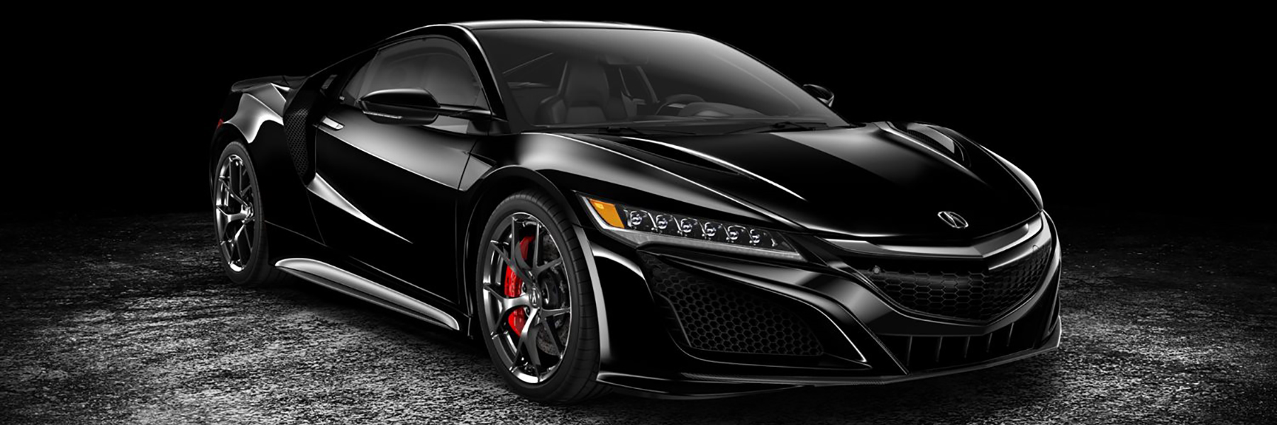 Black 2018 Acura NSX Front View
