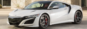 White 2018 Acura NSX Front View