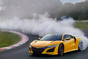 2020 Acura NSX tire spin