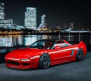 Custom 1991 Red Acura NSX City Background