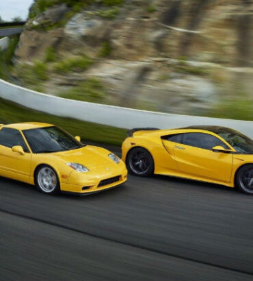 2005 Yellow Acura NSX and 2020 Yellow Acura NSX