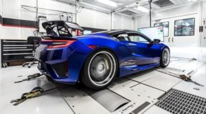 2020 Blue Acura NSX Dream Project HP Test